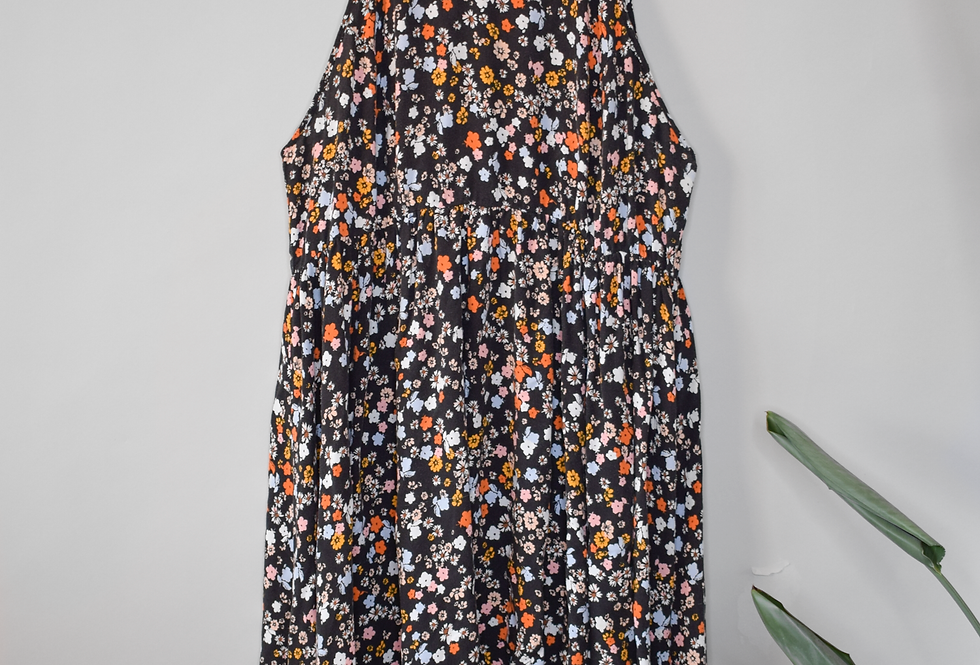 Torrid Floral High Low Midi Dress 2