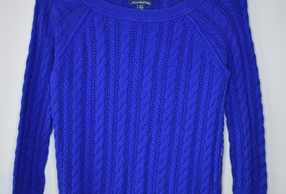 American Eagle Outfitters Cable Pointelle Knit Sweater XS