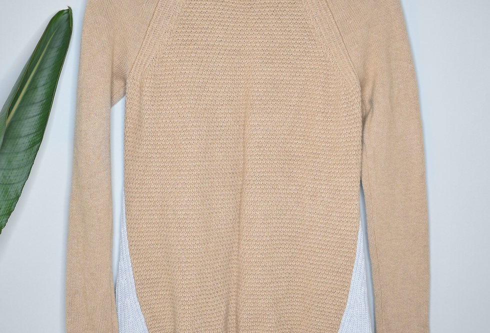 LOFT Two Color Sweater Tunic M