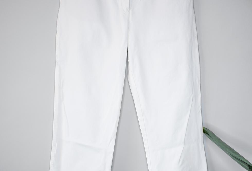 St. John Sport White Straight Pants 10
