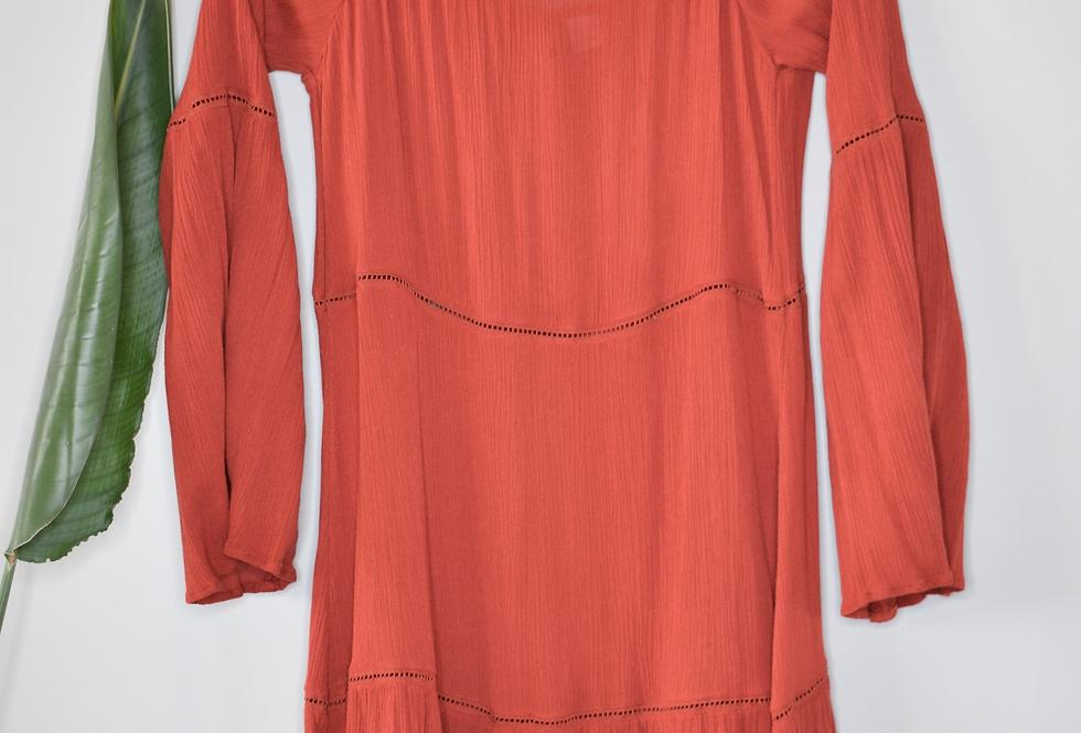 H&M Cold Shoulder Tiered Dress 4