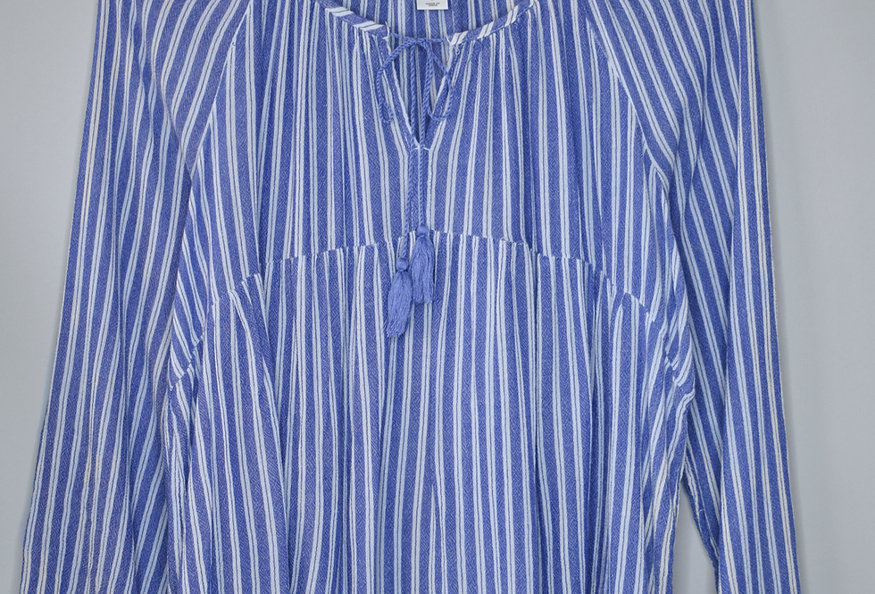 Old Navy Striped Peasant Blouse L