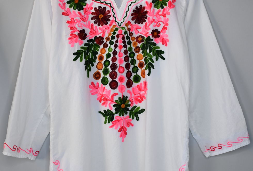 Asha Embroidered Cotton Tunic S