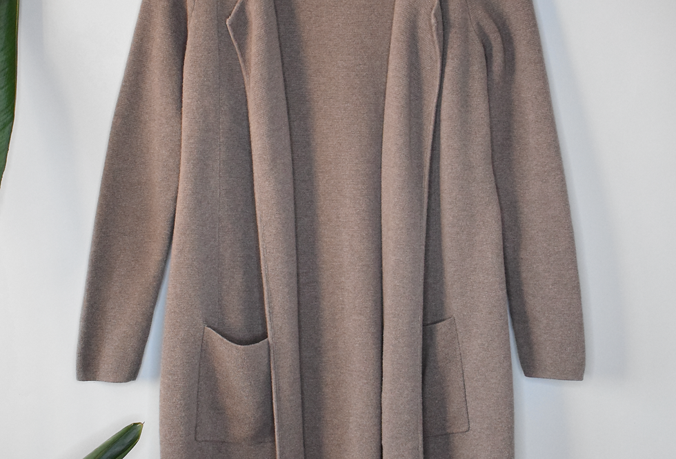 Chico's Taupe Long Cardigan Sweater M