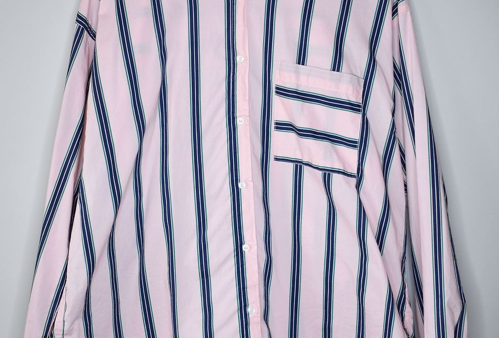Wild Fable Oversized Pink Striped Shirt XL