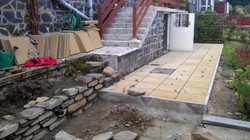 Laying Patio and Building Wall