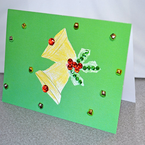 HOLIDAY CARD PACK - Bells (10 count)
