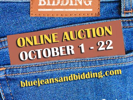 BLUE JEANS & BIDDING - NOW ONLINE AUCTION