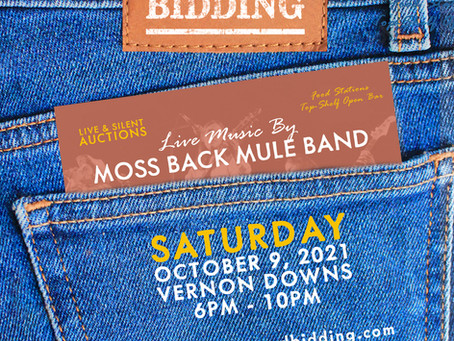 GET YOUR TICKET NOW FOR BLUE JEANS & BIDDING