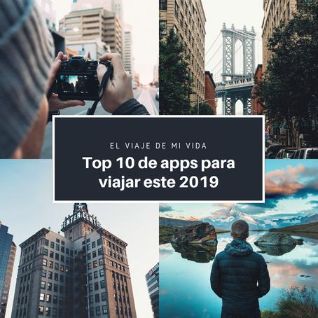 TOP 10 DE APPS PARA VIAJAR ESTE 2019