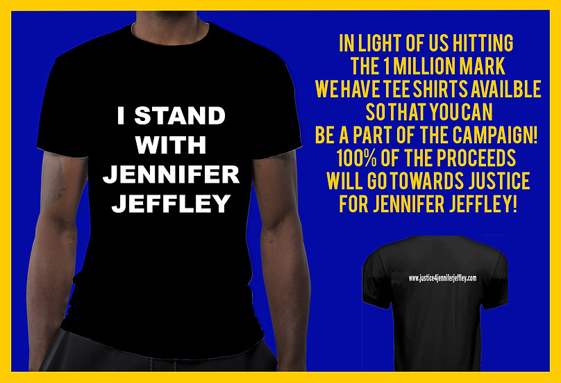 I Stand With Jennifer Jeffley Black T-Shirt