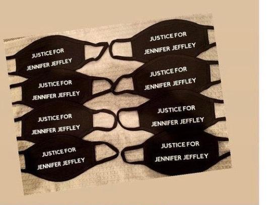 Justice for Jennifer Jeffley Masks