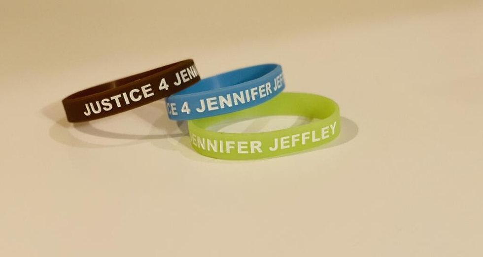 Justice 4 Jennifer Jeffley Wristbands