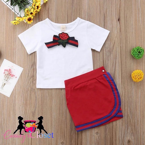 Uniform Style Two Piece Toddler Girl Set