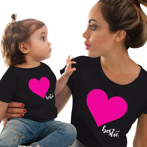 Bestie Love Mommy & Me Shirts