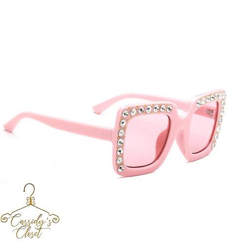 Pink Dazzled Sun Glasses