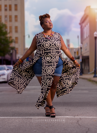 portrait of plus size model by sharde richardson photography