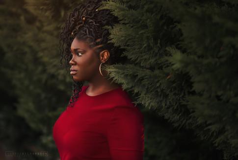 Portrait of black woman by sharde richardson photography