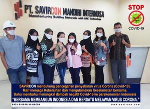 BERSAMA BATA RINGAN SAVIRCON MEMBANGUN INDONESIA DAN BERSATU MELAWAN VIRUS CORONA