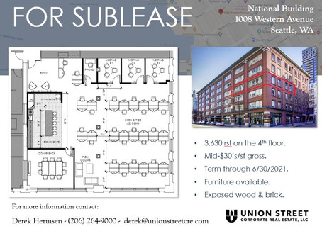 New Sublease Available on Seattle's Waterfront!