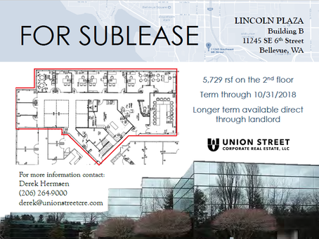 New Sublease at Lincoln Plaza