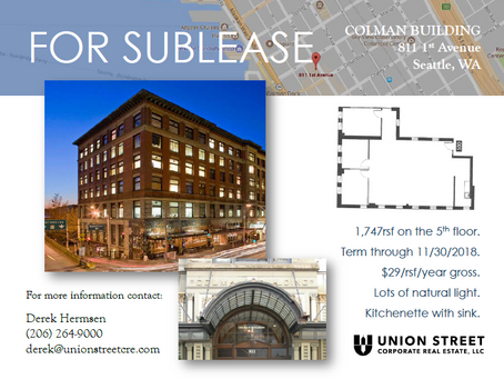 New Short Term Sublease