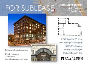 Colman Building Sublease
