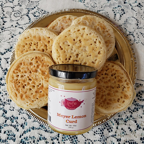 8 Crumpets with Lemon Curd