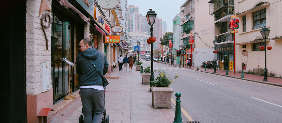 พาลูกวัย 10 เดือน เดินทางจาก ฮ่องกง ไป มาเก๊า ด้วยรถบัสข้ามสะพาน Hong Kong-Zhuhai-Macau Bridge