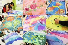 Рисуване на коприна