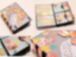 Скрапбук албум с гръбнак от панделка