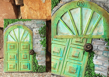 Микс медия пано Вратата към Тайната градина