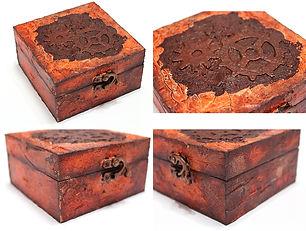 Кутия с ръжда, напукване и алкохолни мастила