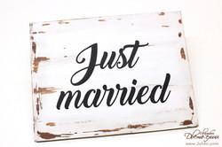 табелка - just married