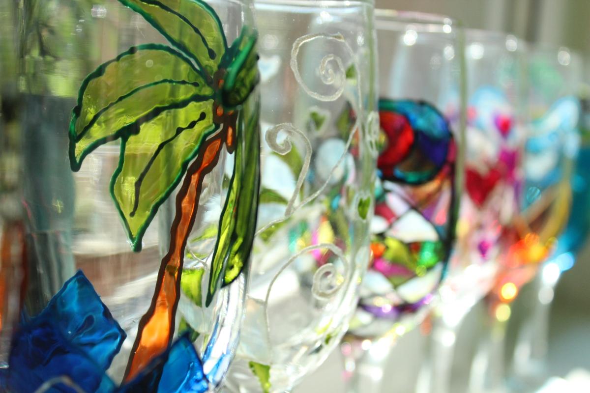 Рисуване на стъкло 2