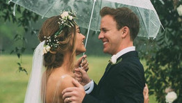 Why you shouldn't be afraid of rain on your wedding day
