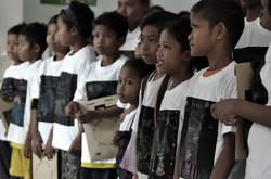 Children in their Chalk-A-Tee