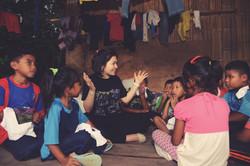 Lilian and orang asli kids