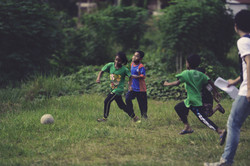 Soccer is one of their daily sports.