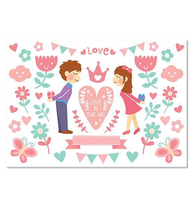 IRON-ON STICKER ( LOVE )