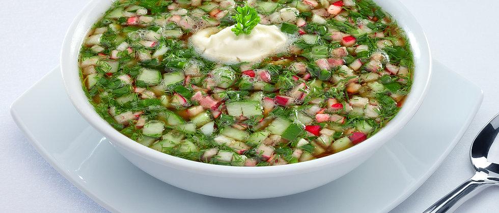 Суп окрошка на кефире