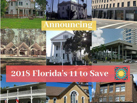Florida Trust Announces the 2018 Florida's 11 to Save