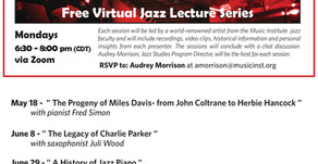 Music Institute of Chicago is offering 4 Jazz Lectures