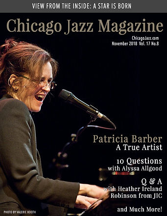 Chicago Jazz Magazine Cover Patricia Bar