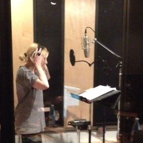 """Laury tracking vocals for her release """"Time is a Healer"""""""
