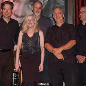 Laury and jazz greats bassist Jim Cox, pianist Jeremy Kahn, Laury, drummer Bob Rummage and saxaphonist Jim Gailloreto