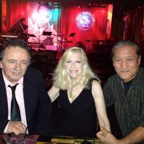 Trumpet player Claudio Roditi, Laury and guitarist Akio Sasajimi.