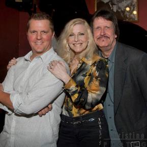 Mike Jeffers, Laury and Chicago Jazz Magazine cartoonist Charley Krebs.