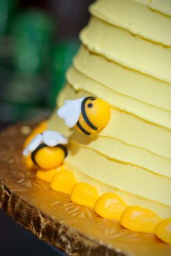 Bee Cake Closeup