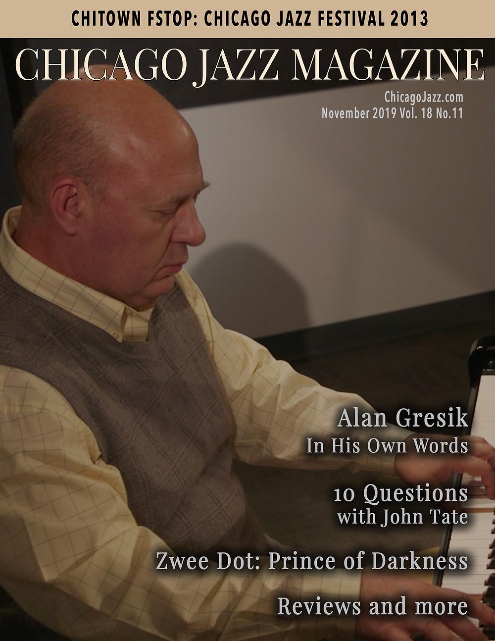 Chicago Jazz Magazine Cover with Alan Gresik